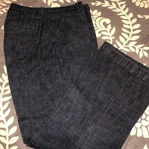 Ladies denim trousers